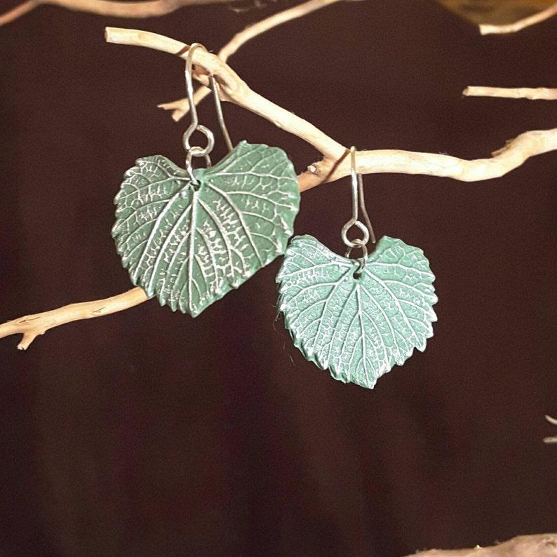 Grape Leaf Earrings image 1