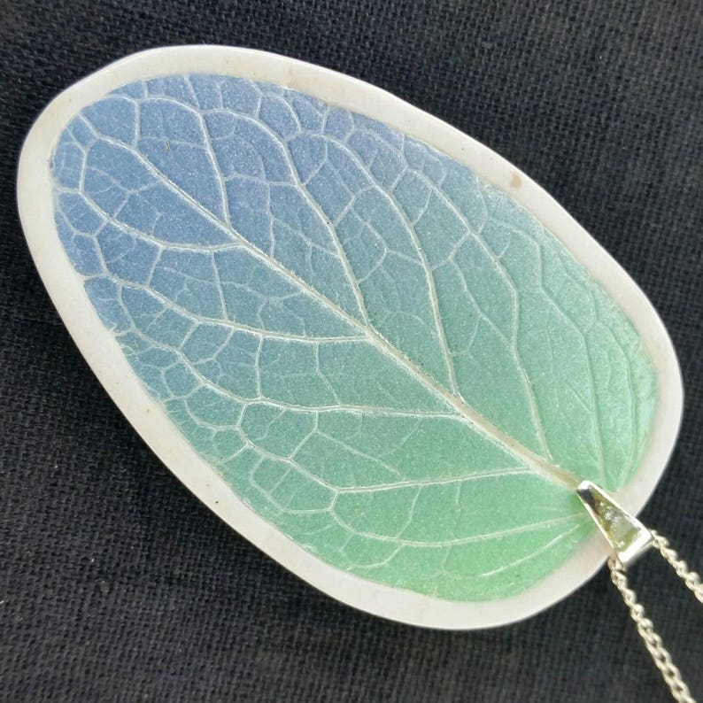 Aqua Periwinkle Ombre Necklace image 1