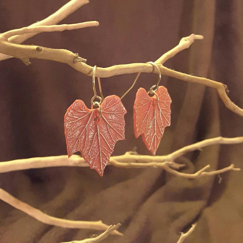 Gourd Leaf Earrings image 1