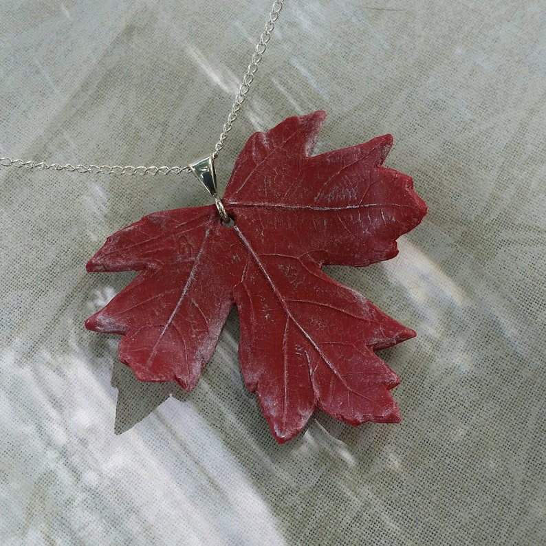 Fiery Red Maple Necklace image 1