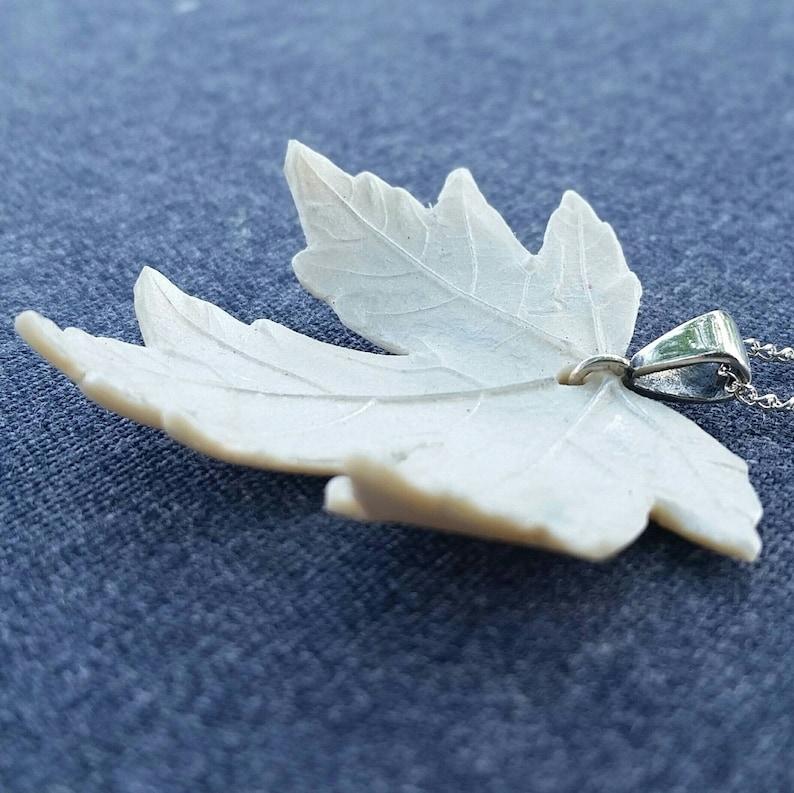Snowflake Maple Leaf Necklace image 1