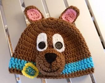 Inspired Scooby Doo Crochet Beanie Hat be03b6932de8
