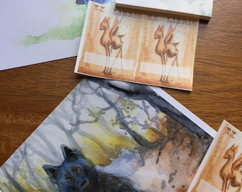 Fantasy Art & Stationery Surprise Pack - watercolor illustration prints and stickers