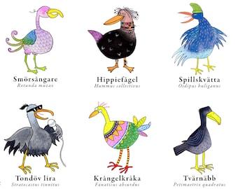 Egendomliga fåglar – the pdf poster