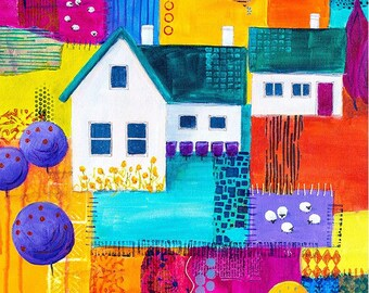 Printed fabric house panel 2