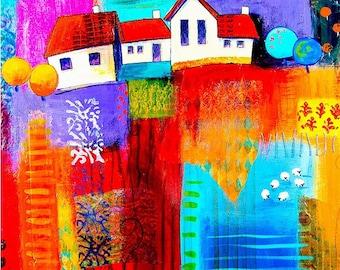Printed fabric house panel 11