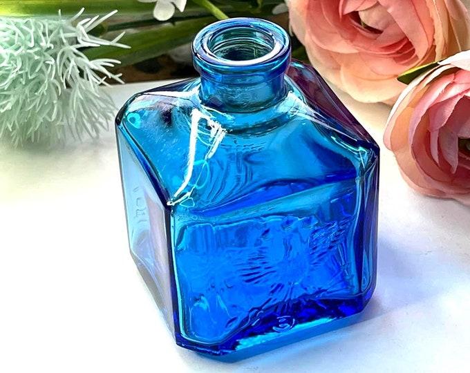 Vintage WHEATON Recorder EAGLE Ink Bottle - Cobalt Blue