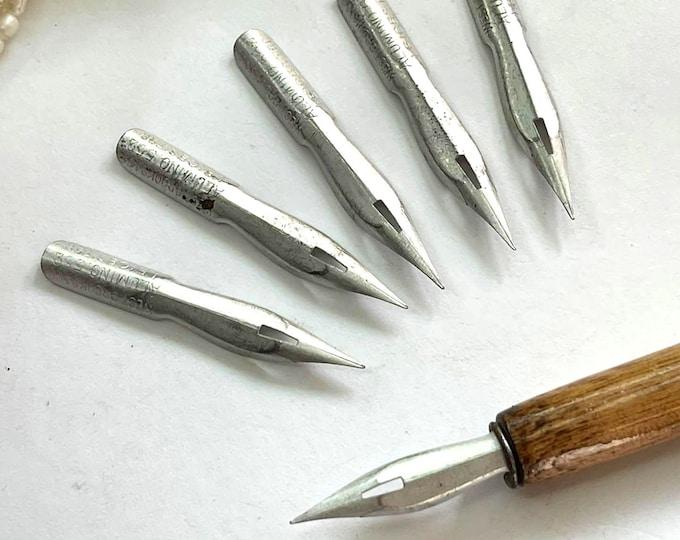 West Brooks Co Ltd High Steel ALUMINUM #552 FINE Writing Point NIB - Dip & Feather Quill Pens