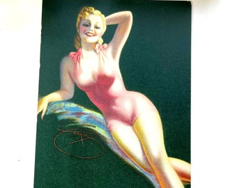 Vintage 1940s MUTOSCOPE Card - Pink of Condition - MS179 Glamour Girls Gil Elvgrin