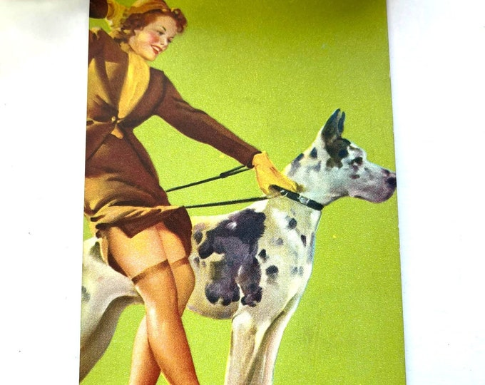 Vintage 1940s MUTOSCOPE Card - A Perfect Pair - MS13 Glamour Girls Gil Elvgrin