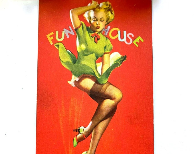 Vintage 1940s MUTOSCOPE Card - Thar She Blows - Glamour Girls MS235 Gil Elvgrin