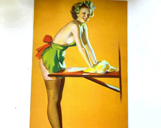 Vintage 1940s MUTOSCOPE Card - In The Dough - MS124 Glamour Girls Gil Elvgrin