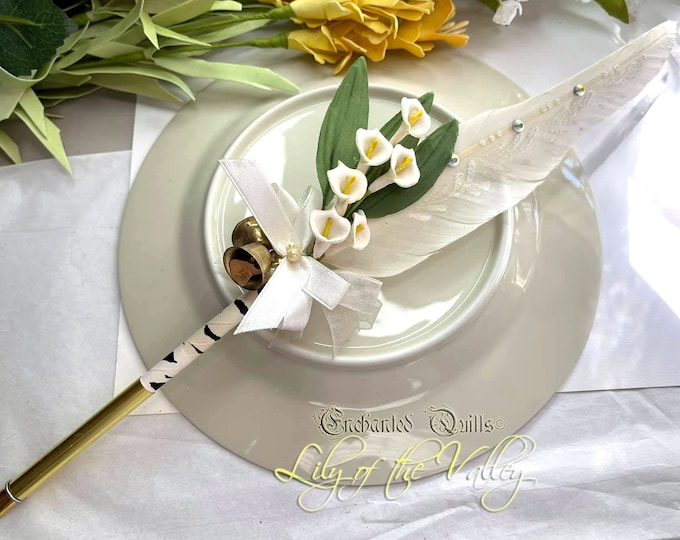 LILY of the VALLEY Artisan Crafted Feather Quill Pen - Happiness