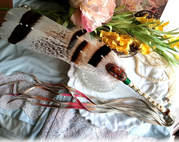 AUTUMN'S SONG Prayer Feather Smudge Fan Wand