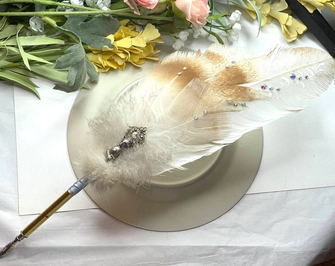 ARCTIC FOX Totem Feather Quill Pen - Dip Pen