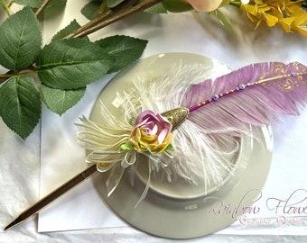 RAINBOW FLOWER Rollerball Ballpoint Wedding Pen