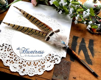 The HUNTRESS Artisan Crafted PHEASANT Feather Quill Dip Pen