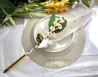 LILY of the VALLEY Feather Quill Pen - Happiness