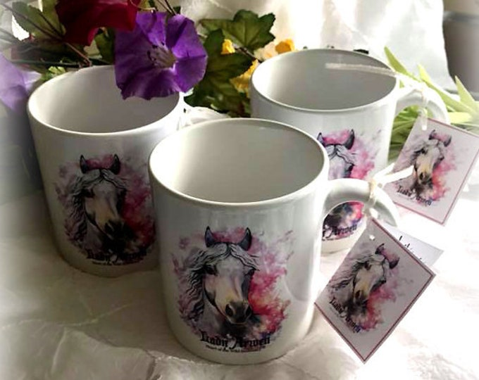 LADY ARWEN - 11 oz. Porcelain Coffee Mug - Heart of the Wild Senior Horse Sanctuary