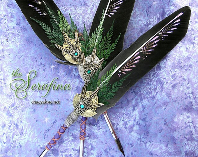 SERAFINA Winged Enchantment Feather Quill Dip Pen