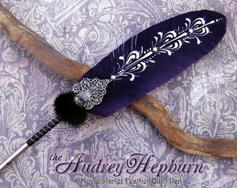 The AUDREY HEPBURN Starlet Feather Quill Pen