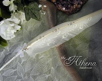 The ATHENA BALLPOINT Wedding Pen Crystals & Silver