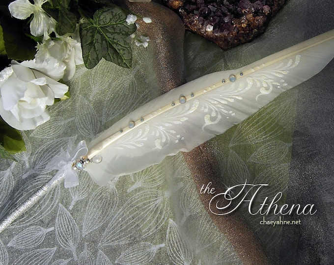 The ATHENA BALLPOINT Wedding Pen Crystals & Silver