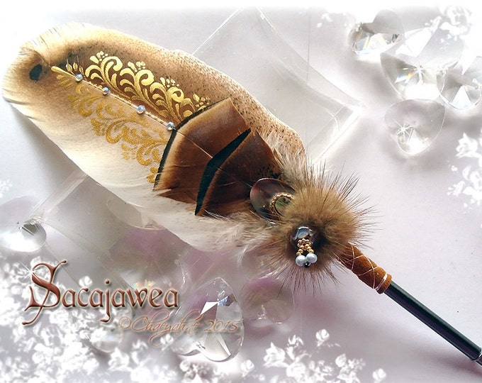 SACAJAWEA Native American Inspired Feather Quill Pen CSD