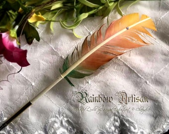 The RAINBOW ARTISAN Feather Quill DIP Pen
