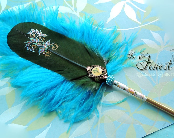 The FOREST PIXIE Faerie Feather Quill Pen - Dip Pen