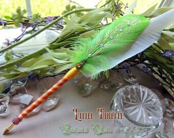 LITTLE FIREFLY Feather Quill BALLPOINT Pen