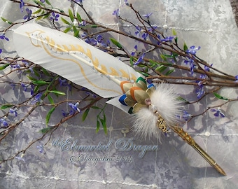 The ELEMENTAL DRAGON  Beastly Feather Quill Pen - Game of Thrones