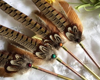 SALE - The COPPER PHEASANT Pheasant Feather Quill Pen