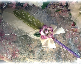 WILDFLOWER Ameruse Wedding Pen Faerie Feather Pen - VIOLET
