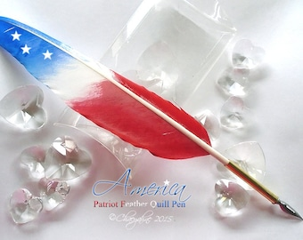 AMERICA - Patriot Feathers - Feather Quill Pen