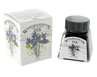 Winsor Newton VIOLET Drawing Calligraphy INK for Megan ONLY