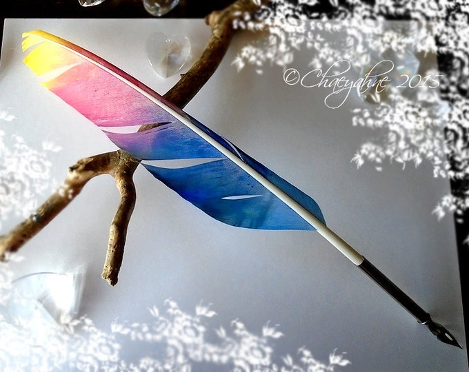 The RAINBOW ARTISAN Feather Quill Pen