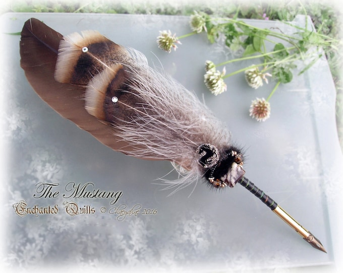 The MUSTANG Horse Totem Feather Quill Pen CSD - Epona