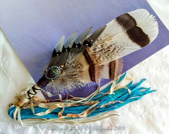 WINGS of the DRAGONFLY Prayer Feather Smudge Fan - Tarbh-Nathrach