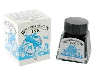 Winsor Newton BLUE Drawing Calligraphy INK for Megan ONLY