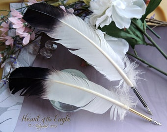 HEART of the EAGLE Totem Feather Quill DIP Pen