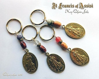 St Francis of Assisi Key Chain Fob