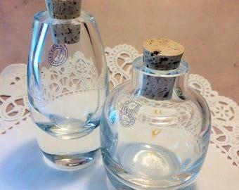 Tall Crystalia Turkish Hand Blown Glass Ink Pot - Elegant & Stylish