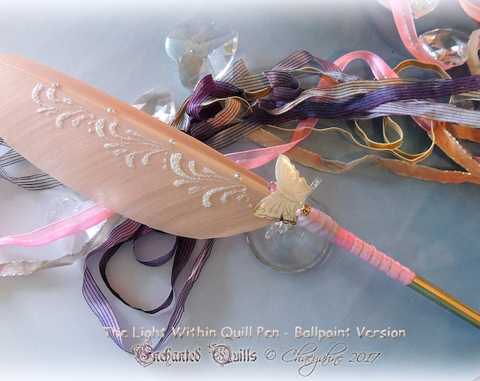 The Light Within BUTTERFLY SPIRIT Totem Feather Quill Pen