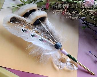 POINT of LIGHT Artisan Feather Quill DIP Pen