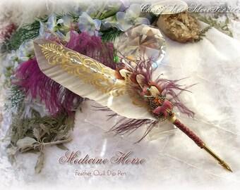 MEDICINE HORSE Totem Feather Quill Pen - Rare Stones