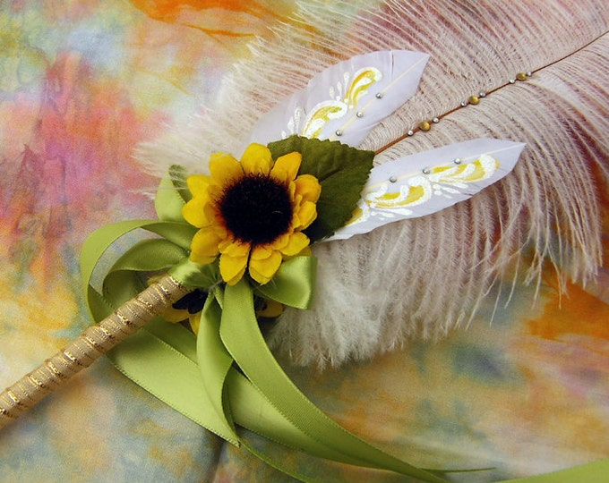 Lovely SUNFLOWER Wedding Feather Pen