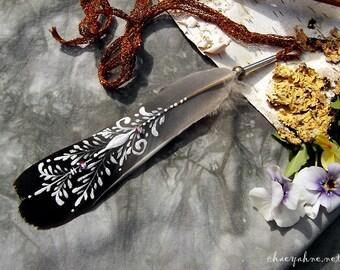 Beautiful Boho BAROQUE Hair Feather Tie
