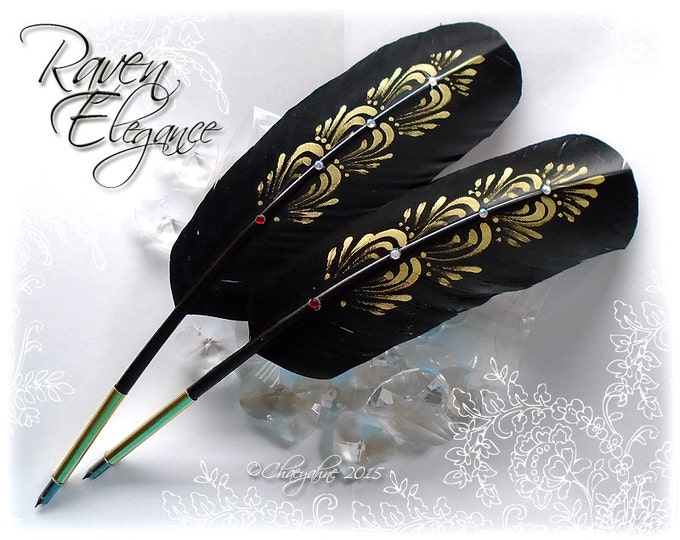 RAVEN ELEGANCE Totem Feather Quill Pen