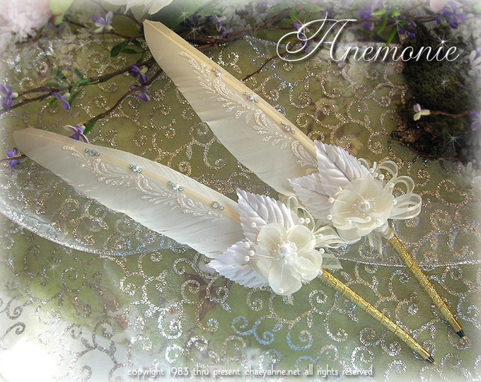 ANEMONIE Faerie Feather Wedding Pen - Made to Order CSD